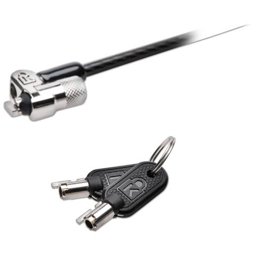 Kensington MicroSaver 2 0 Keyed Laptop Lock  6ft Steel Cable  Silver  Two Keys (KMW65020)