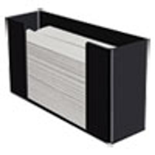 Kantek Multifold Paper Towel Dispenser  Acrylic  12 5 x 4 4 x 7  Black (KTKAH190B)