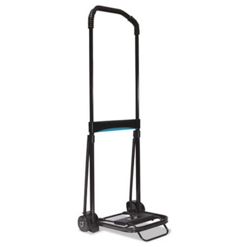 Kantek Ultra-Lite Folding Cart  150 lb Capacity  9 75 x 11 Platform  Black (KTKLGLC110)