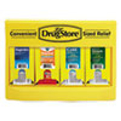 Lil' Drugstore Cold and Flu Single Dose Dispenser  170-Pieces  Plastic Case  Yellow Black (LIL71992)