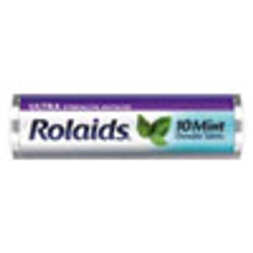 Rolaids Ultra Strength Antacid Chewable Tablets  Mint  10 Roll  12 Roll Box (LILR10034)