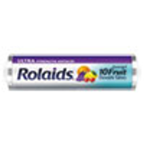 Rolaids Ultra Strength Antacid Chewable Tablets  Assorted Fruit  10 Roll  12 Roll Box (LILR10049)