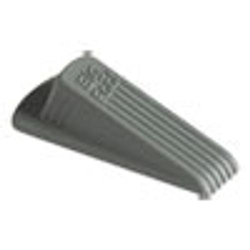 Master Caster Big Foot Doorstop  No-Slip Rubber  2 25w x 4 75d x 1 25h  Gray  12 Pack (MAS00986)
