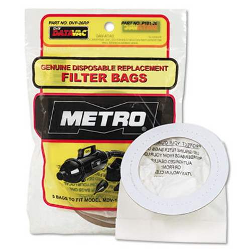 DataVac Replacement Bags for Handheld Steel Vacuum Blower  5 Pack (MEVDVP26RP)