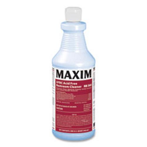 Maxim AFBC Acid Free Restroom Cleaner  Fresh Scent  32 oz Bottle  12 Carton (MLB03600012)