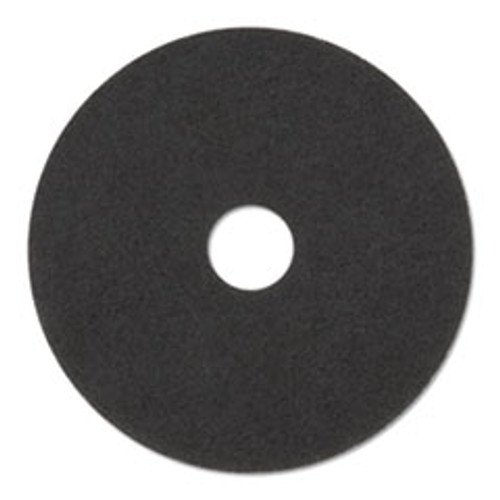 3M Stripper Floor Pads 7200  14  Diameter  Black  5 Carton (MMM08376)