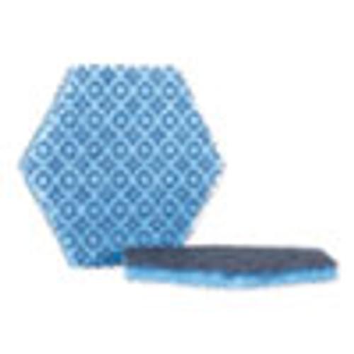 Scotch-Brite PROFESSIONAL Low Scratch Scour Pad 2000HEX  5 75  x 5   Blue  15 Carton (MMM2000HEX)
