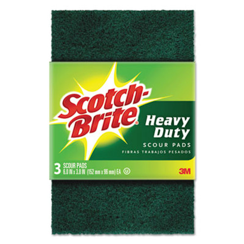 Scotch-Brite Heavy-Duty Scour Pad  3 4 5  x 6   Green  3 Pack (MMM22310)