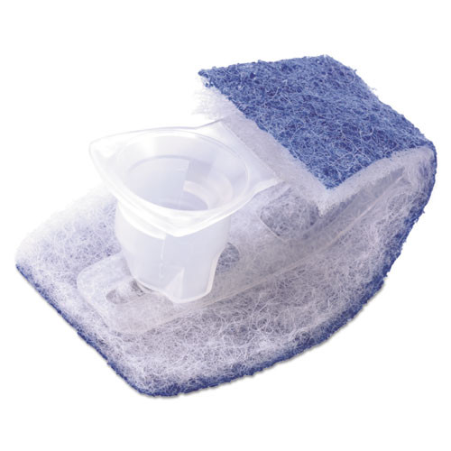 Scotch-Brite Disposable Toilet Scrubber Refill  Blue White  10 Pack (MMM558RF)