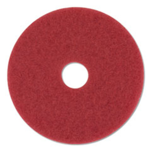 3M Buffer Floor Pads 5100  20  Diameter  Red  10 Carton (MMM59258)