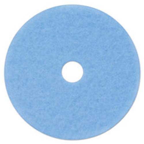 3M Hi-Performance Burnish Pad 3050  21  Diameter  Sky Blue  5 Carton (MMM59829)
