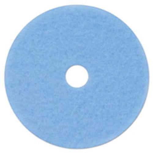 3M Hi-Performance Burnish Pad 3050  21  Diameter  Sky Blue  5 Carton (MMM59829)