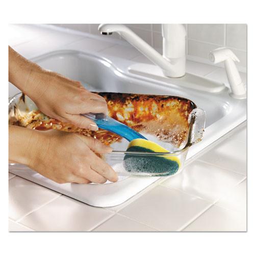 Scotch-Brite Heavy-Duty Soap-Dispensing Dishwand  2 1 2  x 9 1 2   Yellow Green  4 Carton (MMM6504)