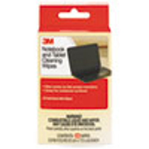 3M Notebook Screen Cleaning Wet Wipes  Cloth  7 x 4  White  24 Pack (MMMCL630)