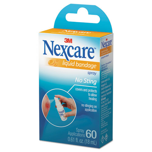 3M Nexcare No-Sting Liquid Bandage Spray  0 61oz (MMMLBS11803)