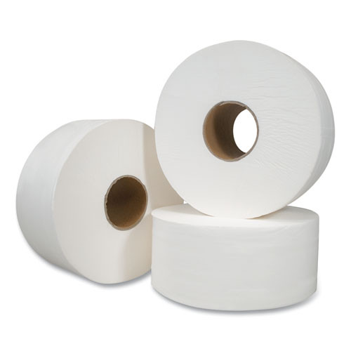 Morcon Tissue Jumbo Bath Tissue  Septic Safe  2-Ply  White  750 ft  12 Rolls Carton (MORVT110)