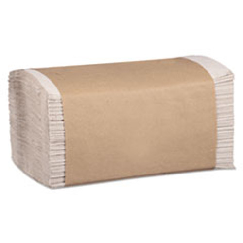 Marcal PRO 100  Recycled Folded Paper Towels  1-Ply  8 62 x 10 1 4  Natural  334 PK 12PK CT (MRCP600N)