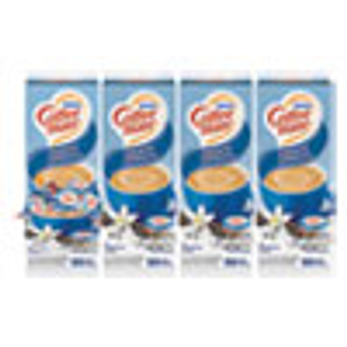 Coffee mate Liquid Coffee Creamer  French Vanilla  0 38 oz Mini Cups  50 Box  4 Boxes Carton  200 Total Carton (NES35170CT)