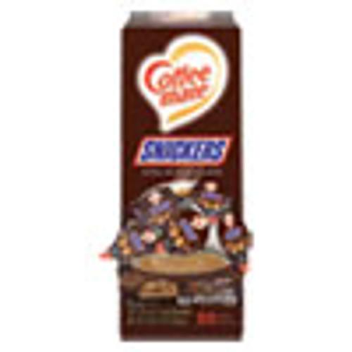 Coffee mate Liquid Coffee Creamer  Snickers  0 38 oz Mini Cups  50 Cups Box (NES61425BX)