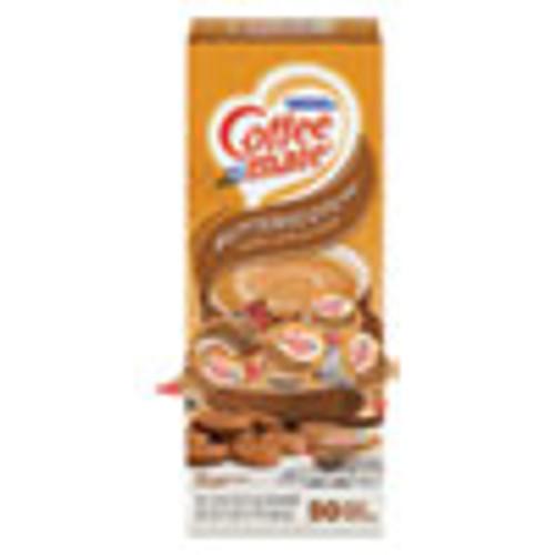 Coffee mate Liquid Coffee Creamer  Butterscotch  0 38 oz Mini Cups  50 Cups Box (NES68613)