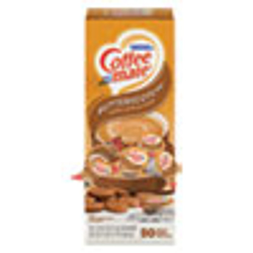 Coffee mate Liquid Coffee Creamer  Butterscotch  0 38 oz Mini Cups  50 Cups Box (NES68613)