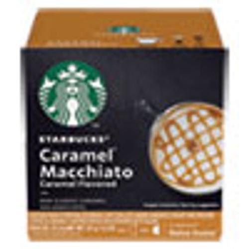 NESCAF?‰ Dolce Gusto Starbucks Coffee Capsules  Caramel Macchiato  12 Box (NES94273BX)