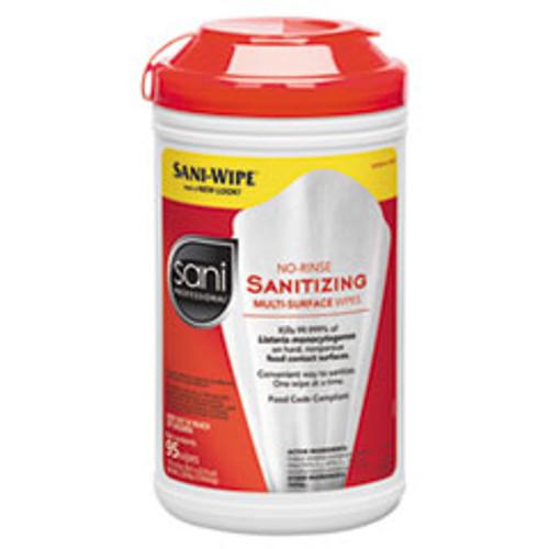 Sani Professional No-Rinse Sanitizing Multi-Surface Wipes  White  95 Container  6 Carton (NICP56784)