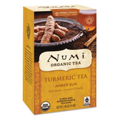 Numi Turmeric Tea  Amber Sun  1 46 oz Bag  12 Box (NUM10552)
