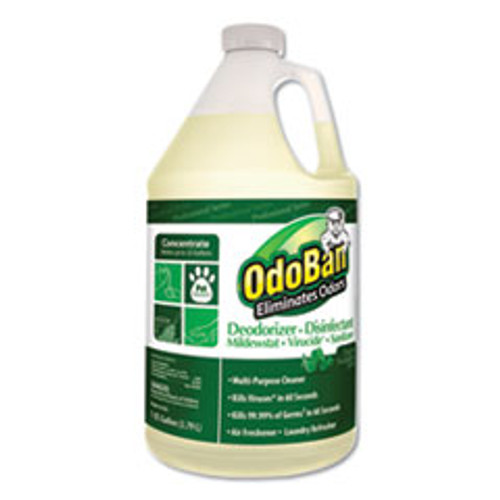 OdoBan Concentrated Odor Eliminator and Disinfectant  Eucalyptus  1 gal Bottle (ODO911062G4EA)
