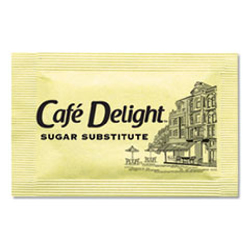 Caf?© Delight Yellow Sweetener Packets  0 08 g Packet  2000 Packets Box (OFX11101)