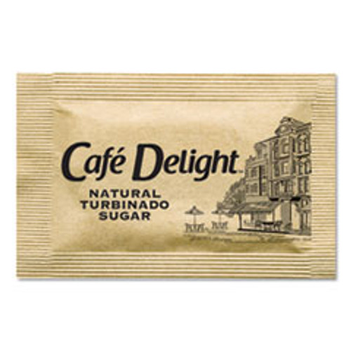 Caf?© Delight Raw Turbinado Sugar Packets  2 8 g Packet  2000 Packets Box (OFX11276)