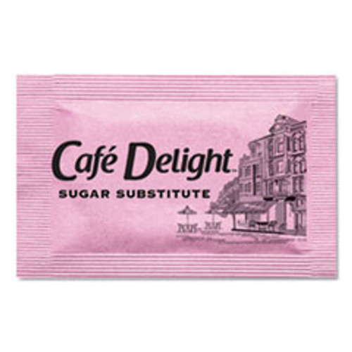 Caf?© Delight Pink Sweetener Packets  0 08 g Packet  2000 Packets Box (OFX11420)