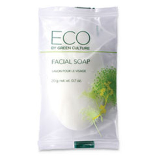 Eco By Green Culture Facial Soap Bar  Clean Scent  0 71 oz Pack  500 Carton (OGFSPEGCFL)