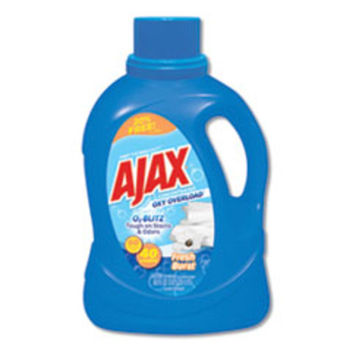 Ajax Laundry Detergent Liquid  Oxy Overload  Fresh Burst Scent  40 Loads  60 oz Bottle  6 Carton (PBCAJAXX37)
