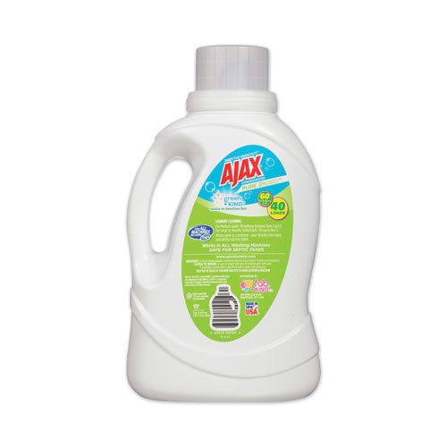 Ajax Laundry Detergent Liquid  Green and Kind  Unscented  40 Loads  60 oz Bottle  6 Carton (PBCAJAXX40)