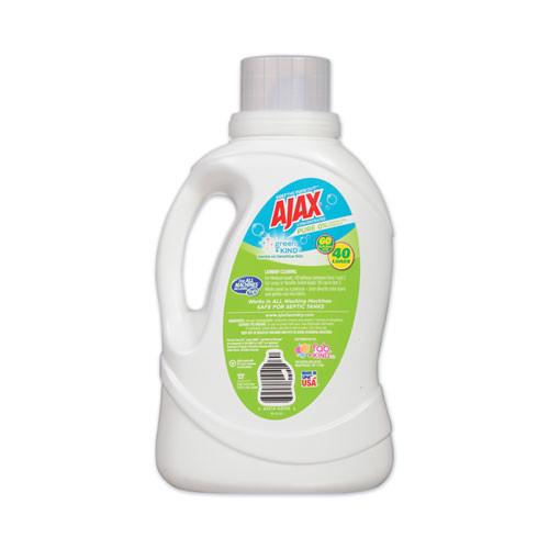 Ajax Laundry Detergent Liquid  Green and Kind  Unscented  40 Loads  60 oz Bottle  6 Carton (PBCAJAXX40)