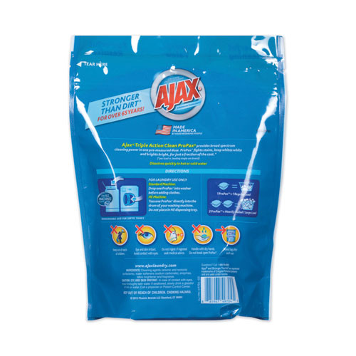 Ajax Laundry Detergent Pods  Oxy Overload  Fresh Burst Scent  16 Loads  16 Pods Pouch  8 Pouches Carton (PBCAJAXX62)