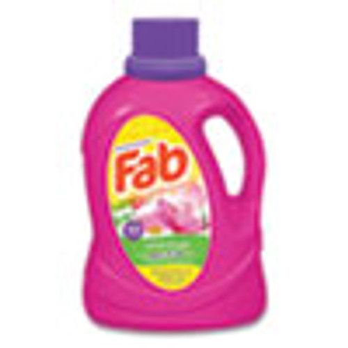 Fab Laundry Detergent Liquid  Love Duet  Lotus and Lilac   40 Loads  60 oz Bottle  6 Carton (PBCFABBB33)