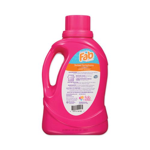 Fab Laundry Detergent Liquid  Sunset Symphony  Sun Kissed Blossoms   40 Loads  60 oz Bottle  6 Carton (PBCFABBB34)