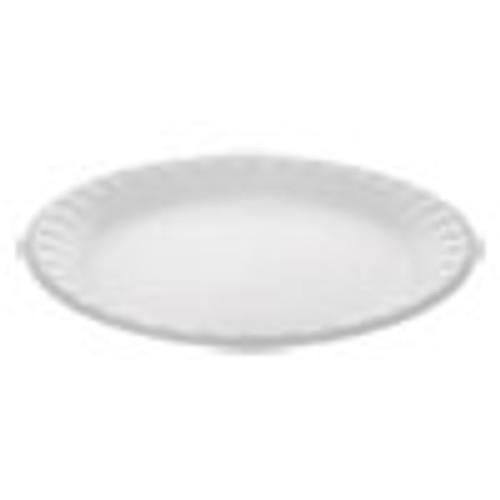 Pactiv Unlaminated Foam Dinnerware  Plate  9  Diameter  White  500 Carton (PCT0TH10009)