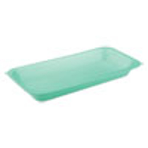 Pactiv Meat Tray   1 5  1-Compartment  8 2 x 5 7 x 0 91  Green  1 000 Carton (PCT0TP20015)