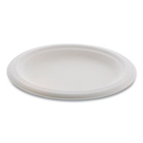 Pactiv EarthChoice Compostable Fiber-Blend Bagasse Dinnerware  Plate  6  Diameter  Natural  1 000 Carton (PCTMC500060001)