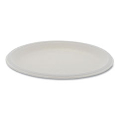 Pactiv EarthChoice Compostable Fiber-Blend Bagasse Dinnerware  Plate  10  Diameter  Natural  500 Carton (PCTMC500100002)
