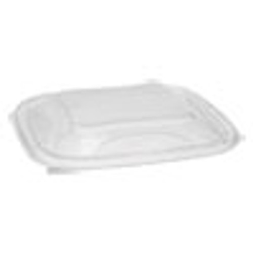 Pactiv EarthChoice PET Container Lids  For 24-32 oz Container Bases  7 38 x 7 38 x 0 82  Clear  300 Carton (PCTSACLD07)
