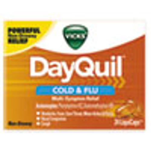 Vicks DayQuil Cold   Flu LiquiCaps  24 Box (PGC01443BX)