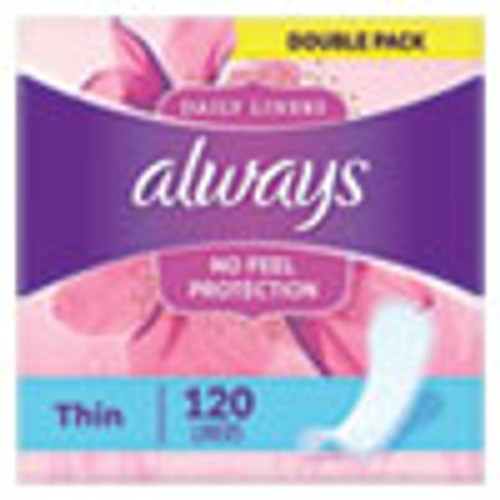 Always Thin Daily Panty Liners  Regular  120 Pack (PGC10796PK)