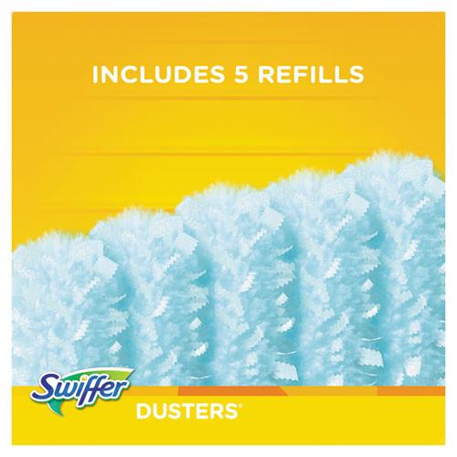 Swiffer Dusters Starter Kit  Dust Lock Fiber  6  Handle  Blue Yellow (PGC11804KT)