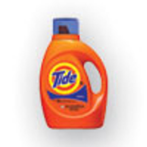 Tide Liquid Laundry Detergent  Original Scent  64 Loads  92 oz Bottle  4 Carton (PGC40218)