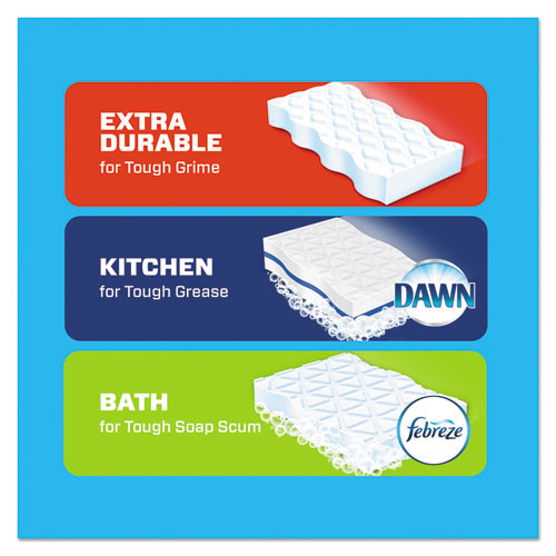 Mr. Clean Magic Eraser Foam Pad  2 2 5  x 4 3 5   Variety Pk  White Blue  6 PK  3 PK CT (PGC51098)