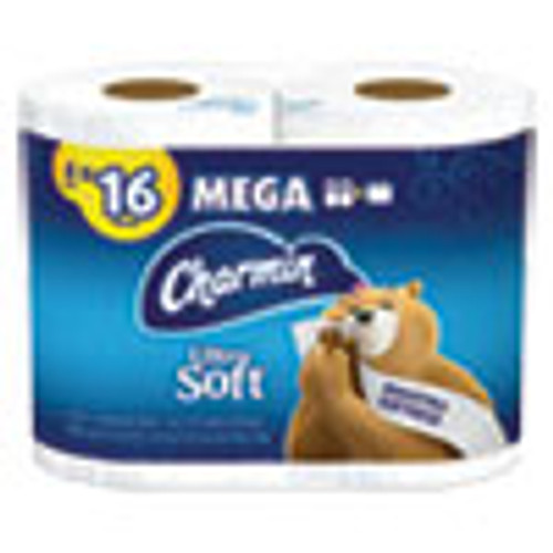 Charmin Ultra Soft Bathroom Tissue  Septic Safe  2-Ply  White  4 x 3 92  264 Sheets Roll  4 Rolls Pack (PGC52769PK)